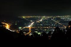 Nightview del llano de Ashigara Fotos de archivo libres de regalías