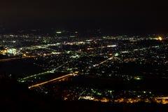 Nightview del llano de Ashigara Fotografía de archivo libre de regalías