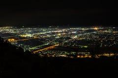 Nightview del llano de Ashigara Foto de archivo