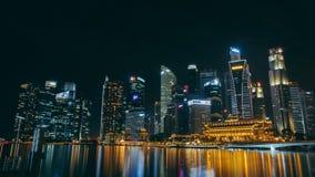 Nightview del SG foto de archivo libre de regalías