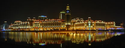 Nightview di Tianjin Immagine Stock