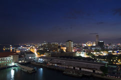Nightview of Georgetown, Penang, Malaysia Royalty Free Stock Images