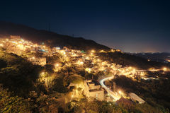 Nightview, Jiufen, Taiwan. Royalty Free Stock Photography