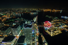 Nightview of Minato Mirai area. Of Yokohama City in Kanagawa, Japan Royalty Free Stock Image