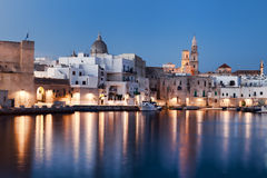 Nightview of Monopoli seaport. Italy. Royalty Free Stock Photo