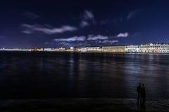 Nightview over Saint Petersburg Royalty Free Stock Photo