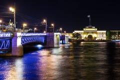 Nightview over Saint Petersburg Stock Photos