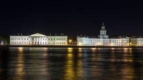 Nightview over Saint Petersburg Stock Images
