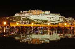 Nightview of Potala palace Royalty Free Stock Photos