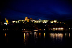Nightview of Prague Royalty Free Stock Photos