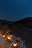Nightview from the roof of a house in the Feynan natural Reserve in Jordan Stock Photo