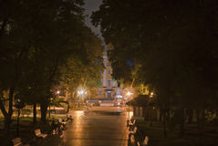 Nightview of Schevchenko Park in Kiev, Ukraine Stock Image