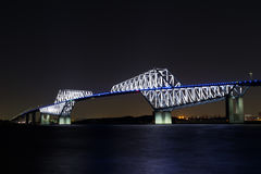 Nightview of Tokyo Gate Bridge Royalty Free Stock Photography
