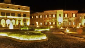 Nightview Toscana by royaltyfria foton