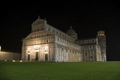 Nightview van Piazza dei Miraco stock foto
