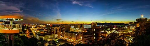 Nightview von Kota Kinabalu Stockfoto