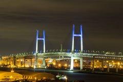 Nightview of Yokohama Bay Bridge Stock Photography