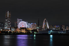 Nightview of Yokohama City Stock Photos