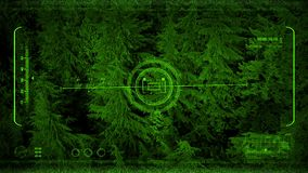 Nightvision που πετά επάνω από το δάσος στο σκοτάδι απόθεμα βίντεο