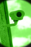 Nightvision of surveillance camera on building Stock Images