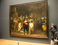 Nightwatch door Rembrandt st Rijksmuseum Royalty-vrije Stock Fotografie