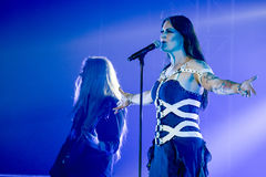 Nightwish à Prague 2015 Photo libre de droits