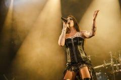 Nightwish bij Meesters van Rots 2015 royalty-vrije stock afbeeldingen