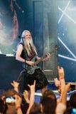 Nightwish finlandssvensk musikband på etapp Royaltyfria Bilder