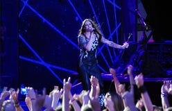 Nightwish finlandssvensk musikband på etapp Royaltyfri Foto