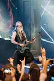 Nightwish Finnish band on stage Royalty Free Stock Images