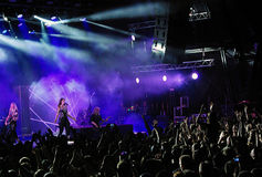 Nightwish Finnish band on stage Stock Image