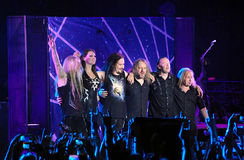 Nightwish Finnish band on stage Stock Images
