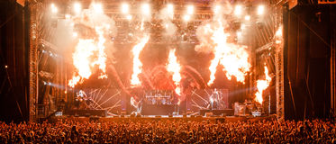 Nightwish at Masters of Rock 2015 Stock Photography