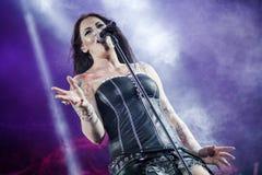 Nightwish på förlage av vaggar 2015 Royaltyfria Bilder