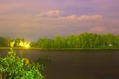 Nighty landscape at San Fernando nautic park royalty free stock photography