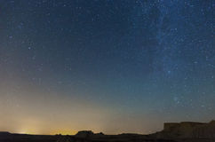 Nighty sky with many stars during summer  night Stock Photos