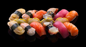 Nigiri寿司集合 免版税图库摄影