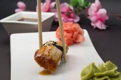 Nigiri d'unagi d'aune de sushi Images stock