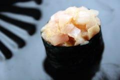 Nigiri del sushi de la perca Fotos de archivo