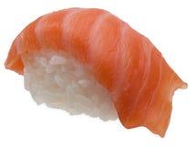 Nigiri di color salmone fresco Fotografie Stock