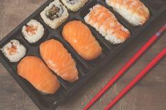 Nigiri e sushi Imagens de Stock Royalty Free