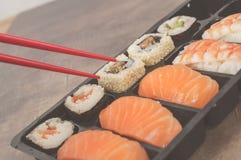 Nigiri e sushi Imagens de Stock