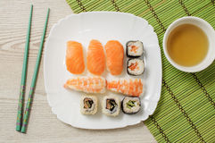 Nigiri e sushi Imagem de Stock
