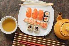 Nigiri e sushi Fotografia de Stock