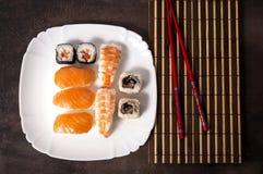 Nigiri e sushi Foto de Stock Royalty Free