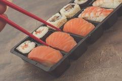 Nigiri e sushi Fotos de Stock Royalty Free