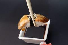 Nigiri för sushiengelsk alnunagi Arkivfoton