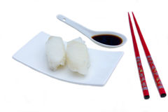 Nigiri with halibut Royalty Free Stock Photography