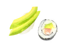 Nigiri and maki sushi Royalty Free Stock Photo