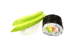 Nigiri and maki sushi Royalty Free Stock Images